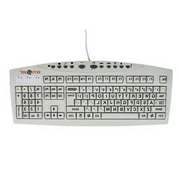 AbleNet Large Print Keys-U-See - Ivory USB Computer Keyboard
