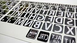 English US LARGE LETTER KEYBOARD STICKERS for Computer or La