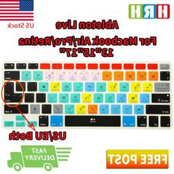 Ableton Live Shortcuts Keyboard Cover Silicone Skin for MacB