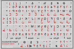 ARABIC-ENGLISH KEYBOARD STICKER NON TRANSPARENT GREY FOR COM