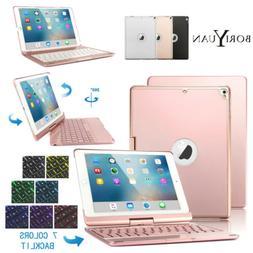"Boriyuan Bluetooth Backlit Keyboard Case For iPad 9.7"" 5/6th"