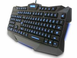 Plixio LED Backlit Light-Up Wired USB Gaming Color Changing