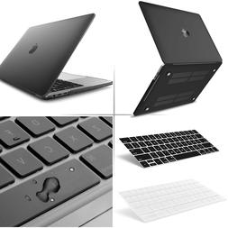 Black Matte Rubberized Case Cover + Keyboard for MacBook Pro