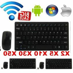 Bluetooth Wireless Keyboard And 2.4G Mouse Combo Slim Set Fo