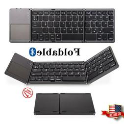 Bluetooth3.0 Keyboard Foldable with Touchpad Wireless for An