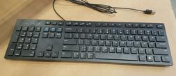 BRAND NEW Dell KB216-BK-US Black Slim USB Keyboard Wired 0G4