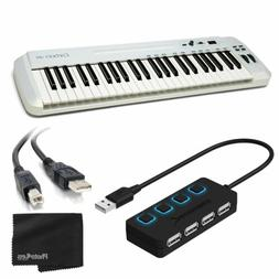 Samson Carbon 49 USB/MIDI Keyboard Controller + 4 Port USB H