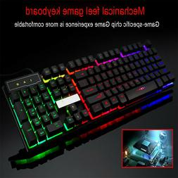 Colorful Crack LED Illuminated Backlit USB Wired PC Rainbow