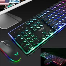 Colorful Punk LED Illuminated Backlit USB Wired PC Rainbow G