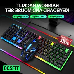 Computer Desktop Gaming Keyboard and Mouse Mechanical Feel R
