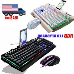 computer gaming keyboard rgb led with mouse