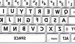 English US Large Letters Keyboard Stickers White background
