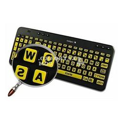 English US LARGE LETTERING Keyboard Sticker yellow