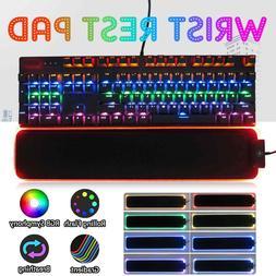 Gaming RGB Keyboard Wrist Rest Pad Gamer LED Lighting Antisl