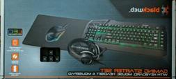 Blackweb Gaming Starter Set BWA19HO004 w/ Keyboard Mouse Hea