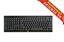 HP K2500 Wireless Keyboard US - E5E77AA#ABA, Black keyboard