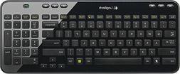 Logitech K360 Wireless Keyboard, Glossy Black