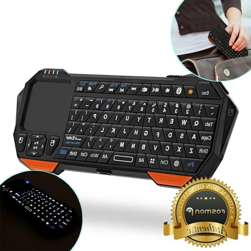 30ft Range Mini Wireless Bluetooth Keyboard w/ Touchpad for