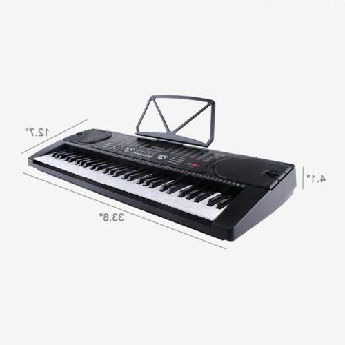 61 Key Music Electronic Keyboard Electric Digital Piano Organ with