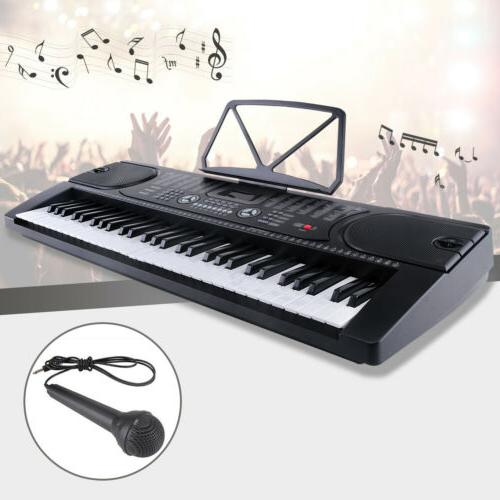 61 key music electronic keyboard electric digital