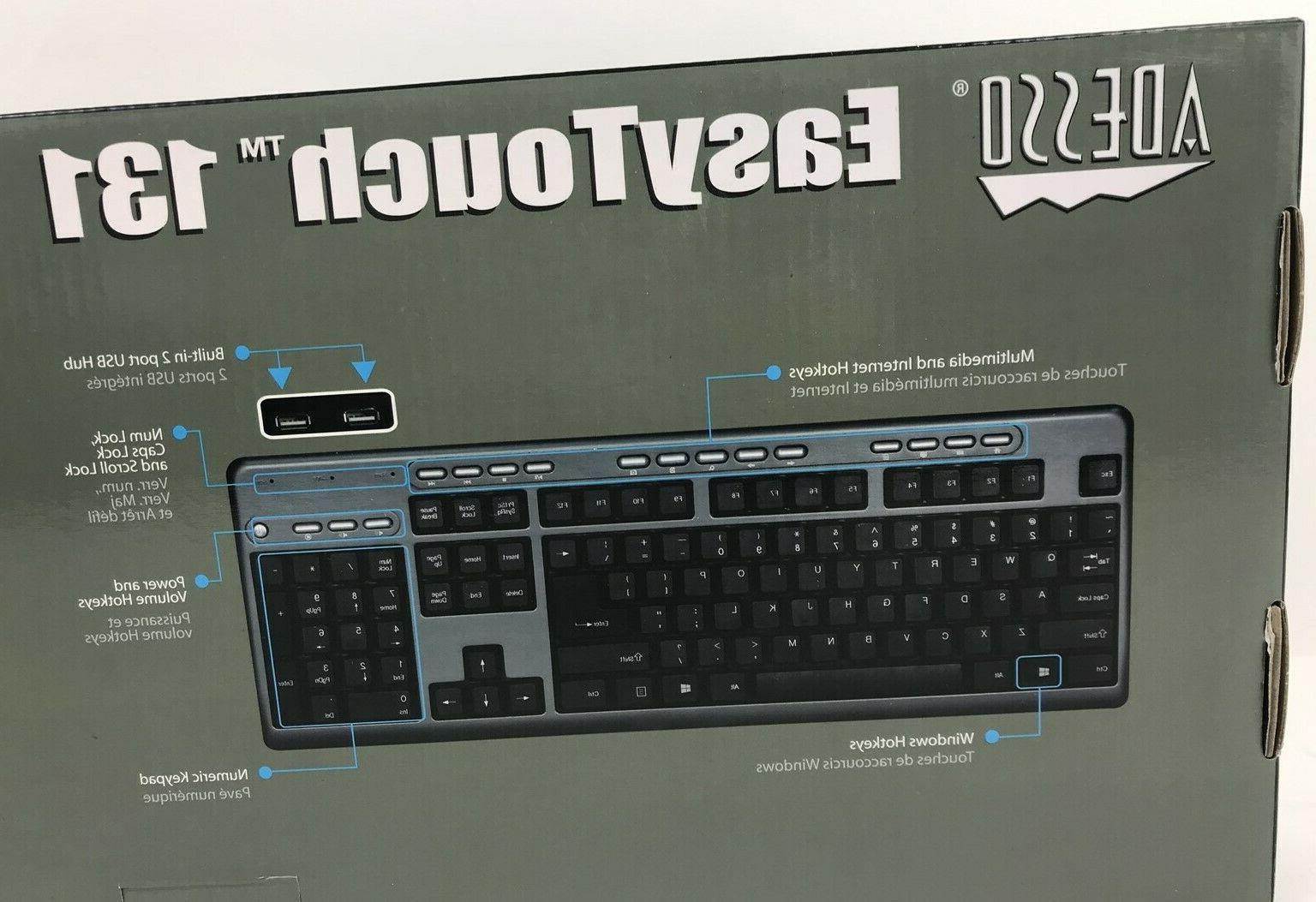 ADESSO USB with 2-Port USB AKB-131HB Desktop