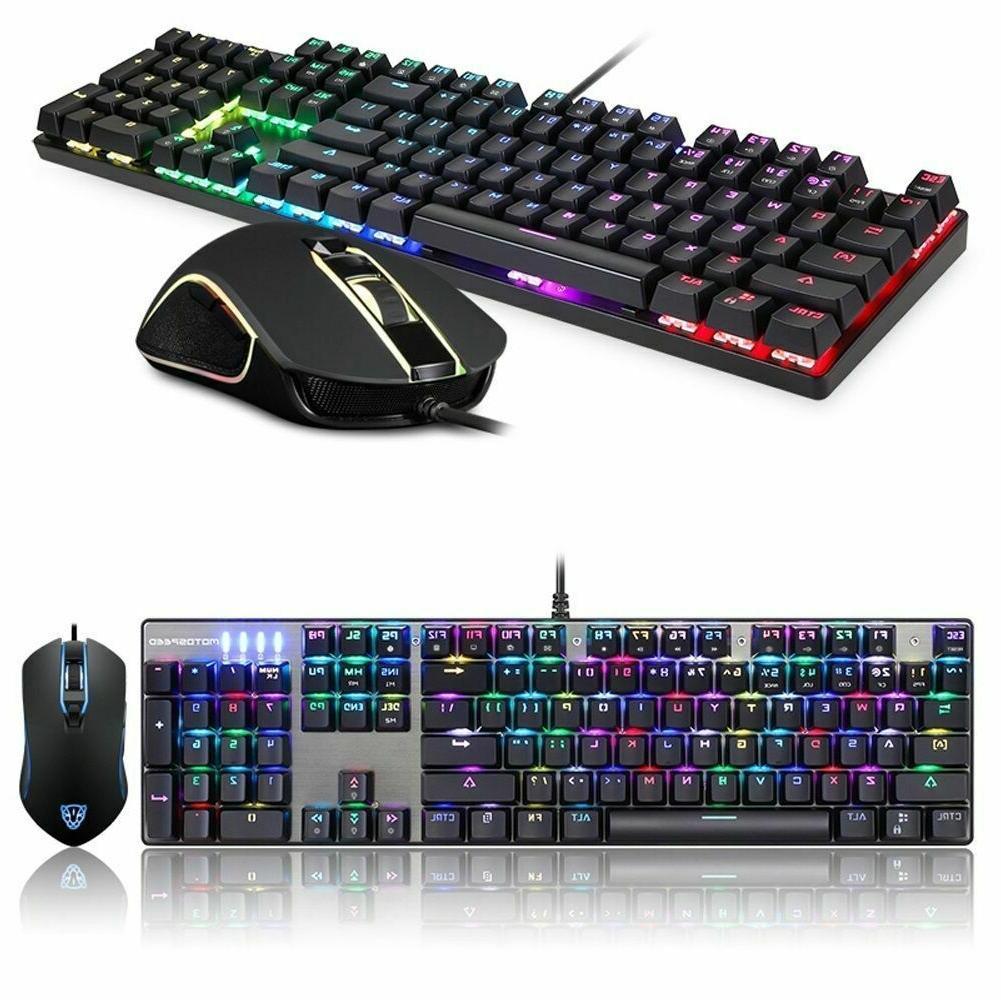 Motospeed Mechanical Keyboard Mouse