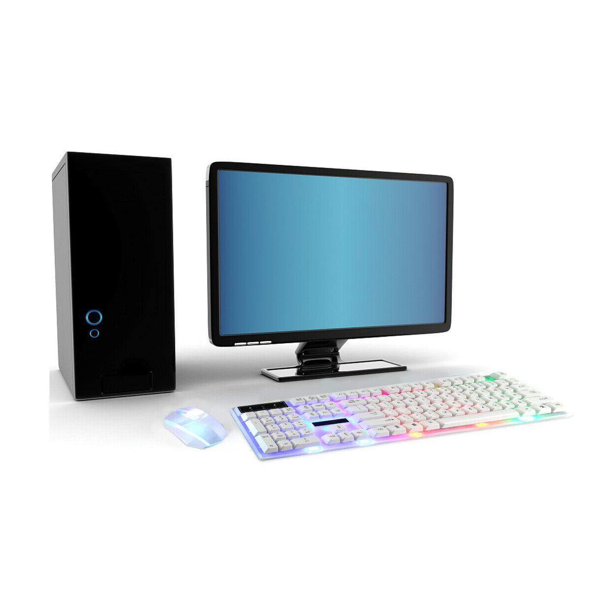 Computer Keyboard and Ergonomic LED Light Backlit