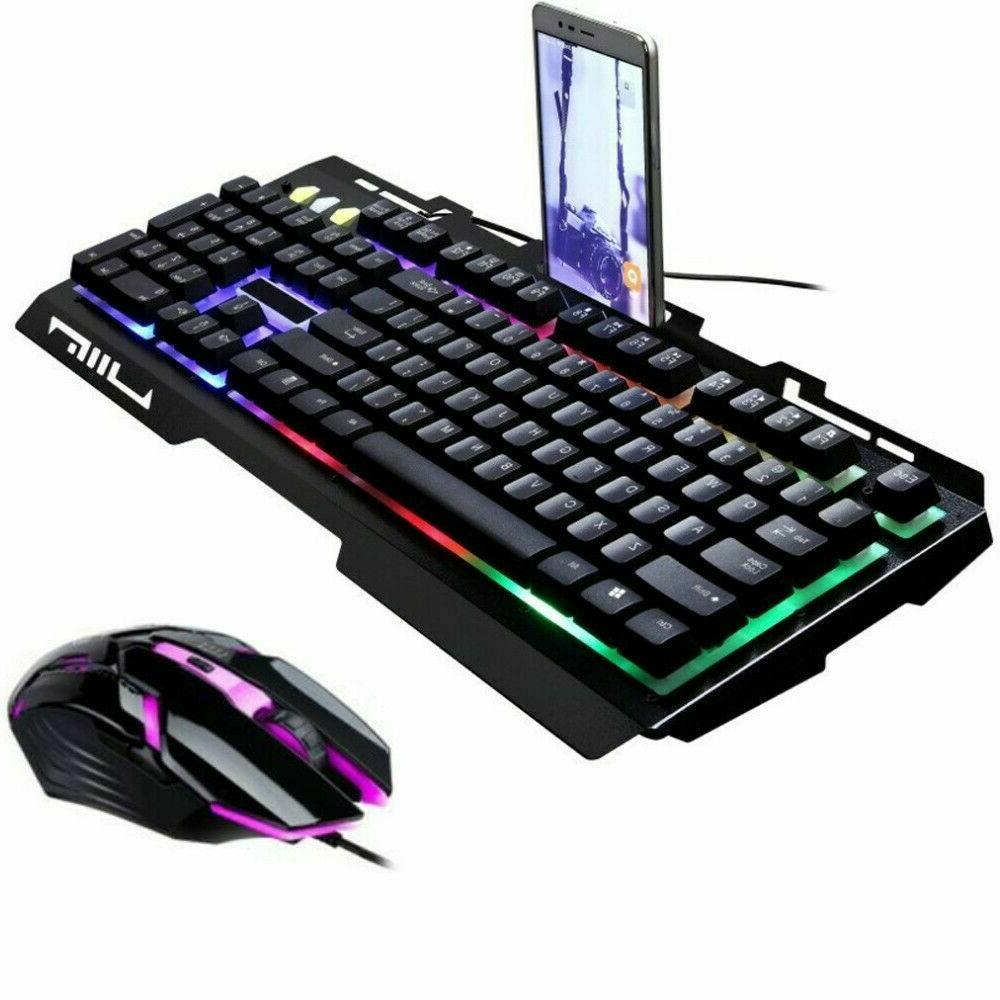 LED Mouse Mechanical Keyboard