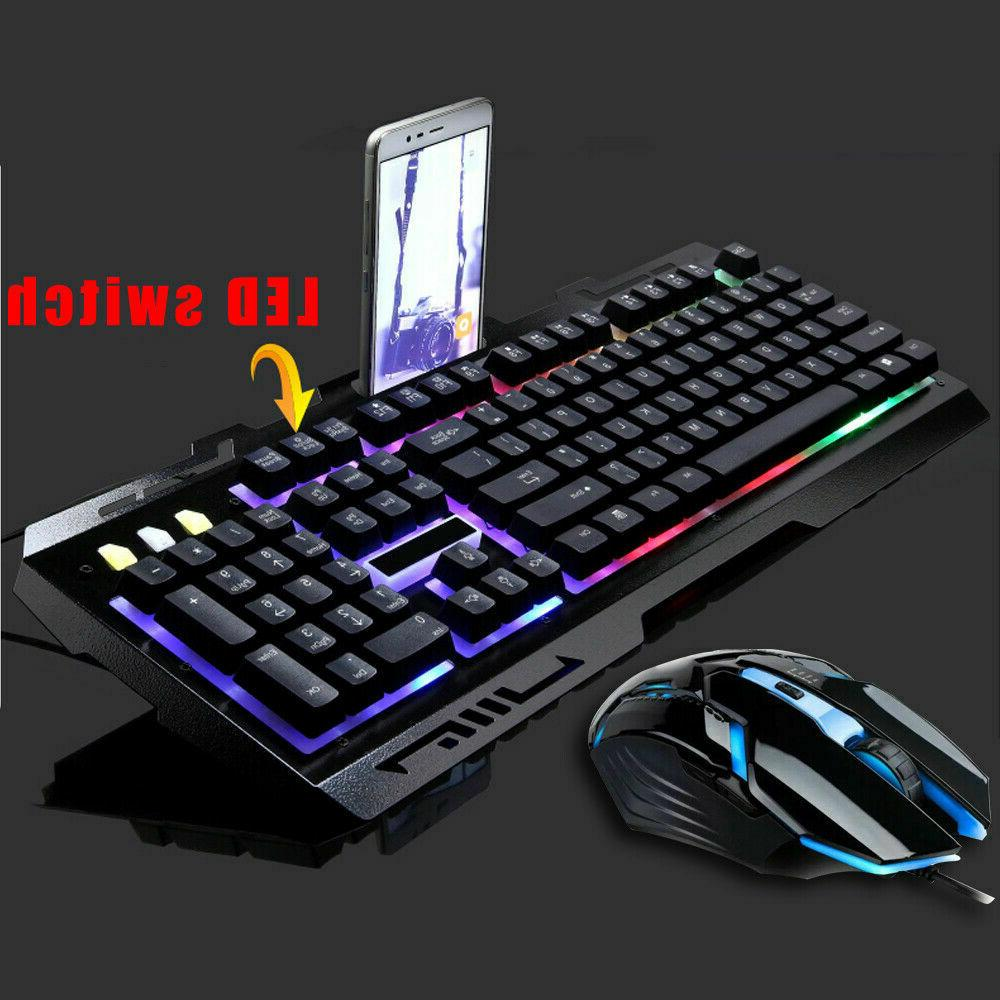 Computer Keyboard LED with Mechanical Feeling Keyboard