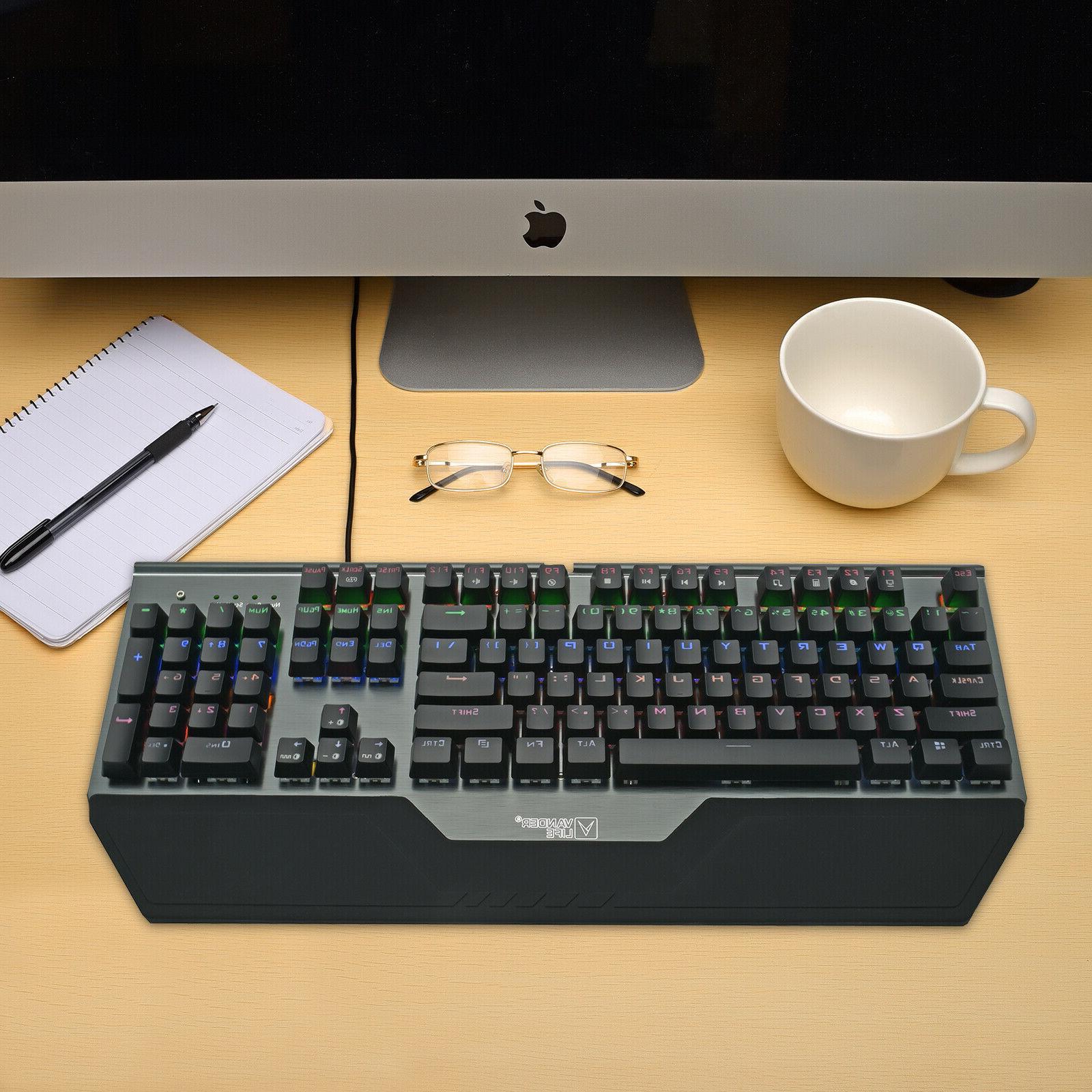 Mechanical Keyboard RGB LED High Speed US Standard Ergonomic
