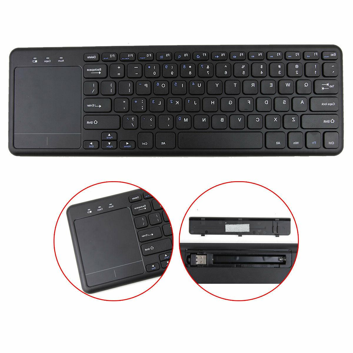 Keyboard wireless 2.4G touchpad Windows 10, Vista, 7, 8