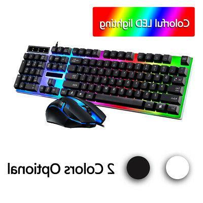 led light backlit computer desktop gaming wired