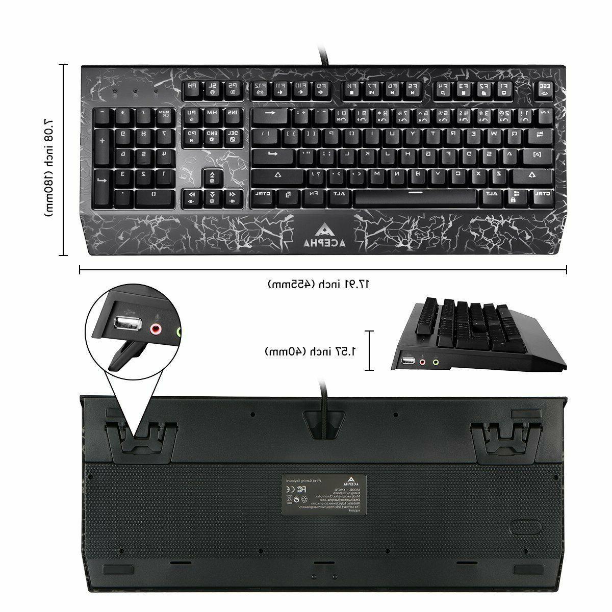 NPET K10 Gaming USB Wired Keyboard, Quiet Ergonomic