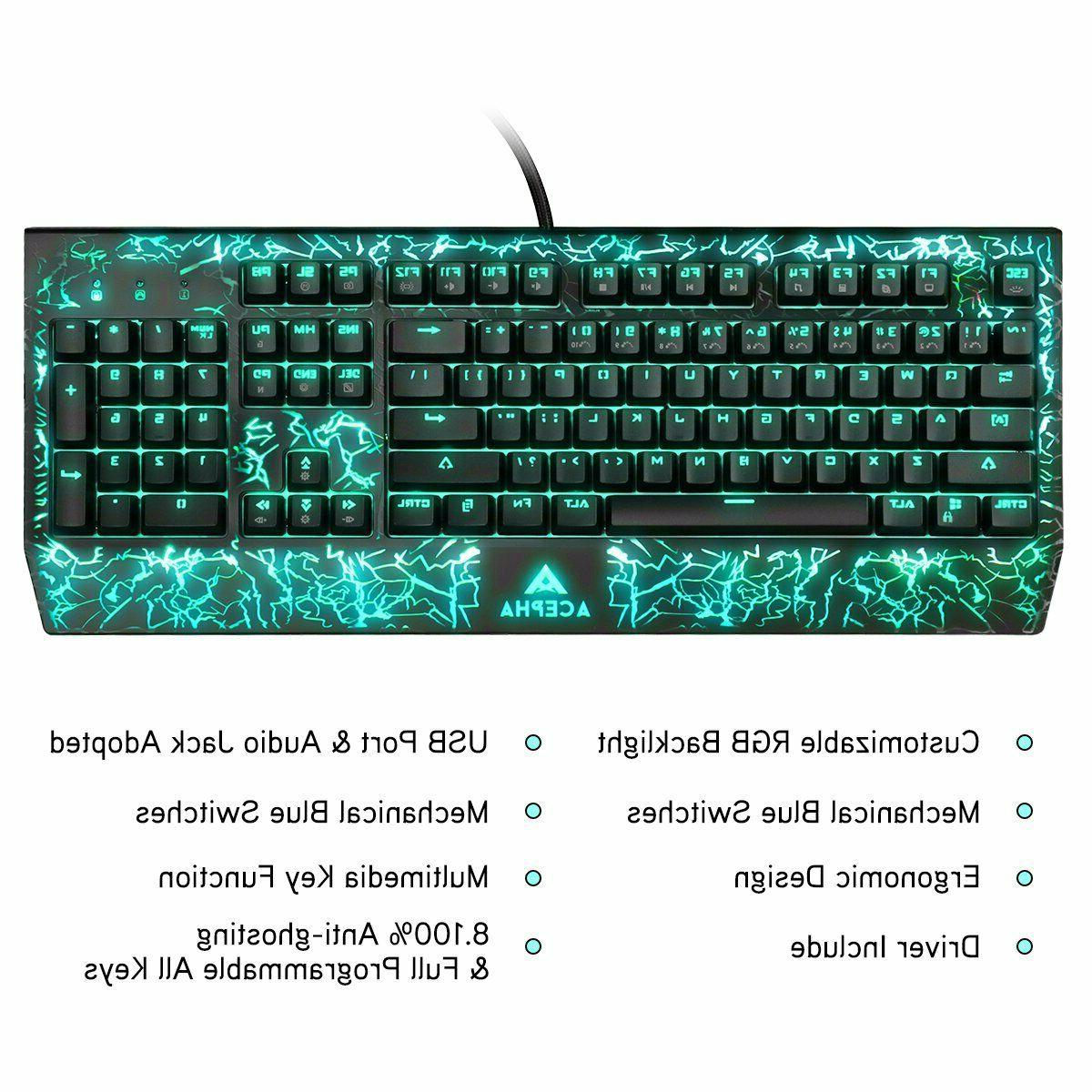 NPET Gaming Keyboard USB Wired Keyboard, Quiet Ergonomic