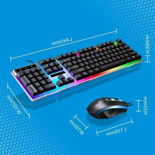 VicTsing Backlit Game Keyboard Mouse For PC Win10
