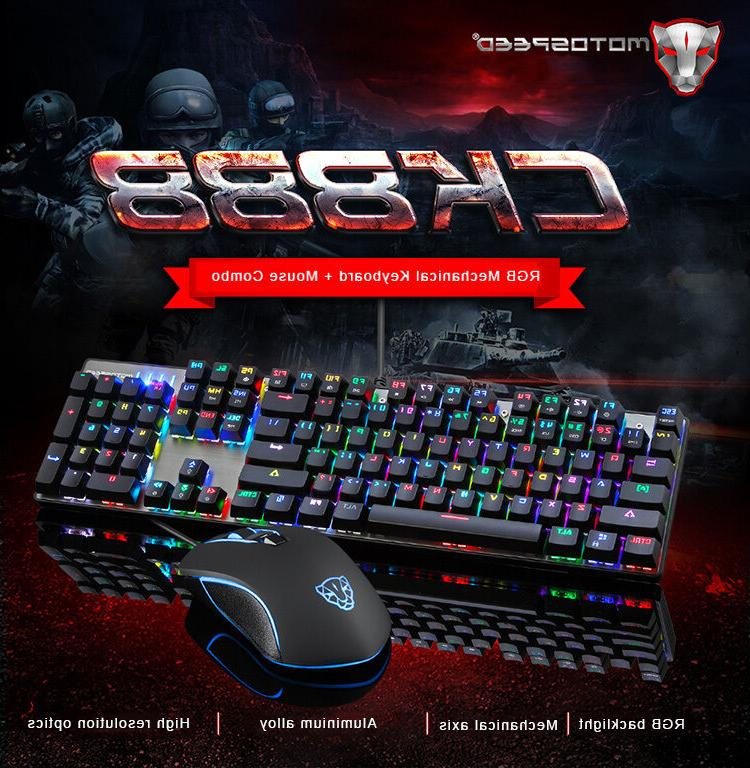 motospeed ck888 mechanical gaming keyboard and usb