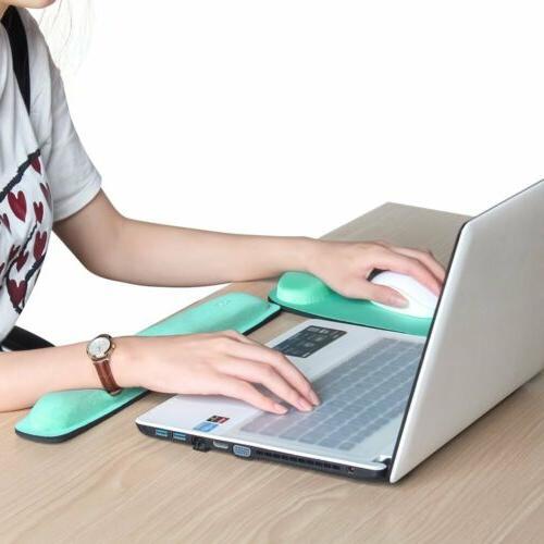 Ergonomic Memory Foam Mouse  Wrist Rest Pad & Keyboard Pad F
