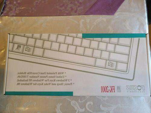 new electronic fk 2001 mechanical keyboard w