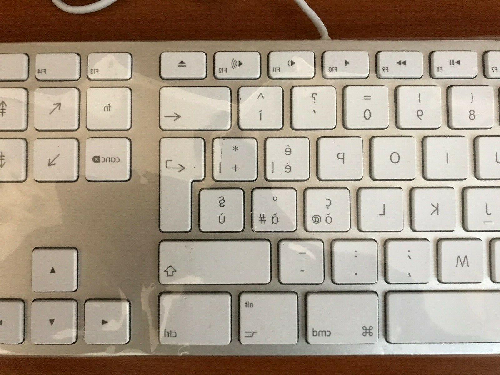 New Original Aluminum Wired Keyboard - Italian