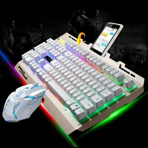 Pro Gaming Wired RGB Colorful LED & Computer