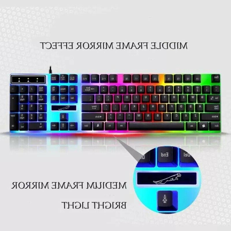 Rainbow Gaming Keyboard And Mouse Backlight Mouse