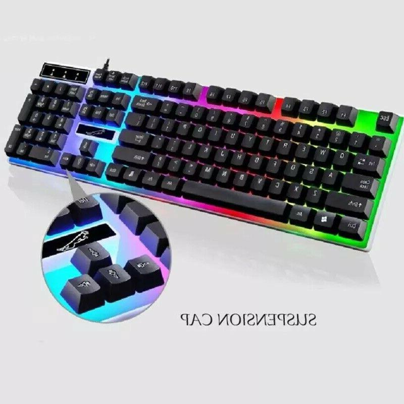 Rainbow Keyboard And Mouse Backlight