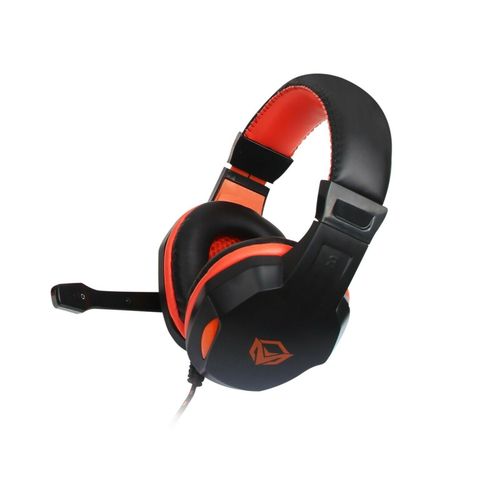 MeeTion Rainbow Gaming Mouse, Headset 4 1 Set