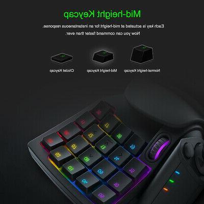 Razer V2 Gaming One-Handed Keyboard RGB Backlit 32 H9F1