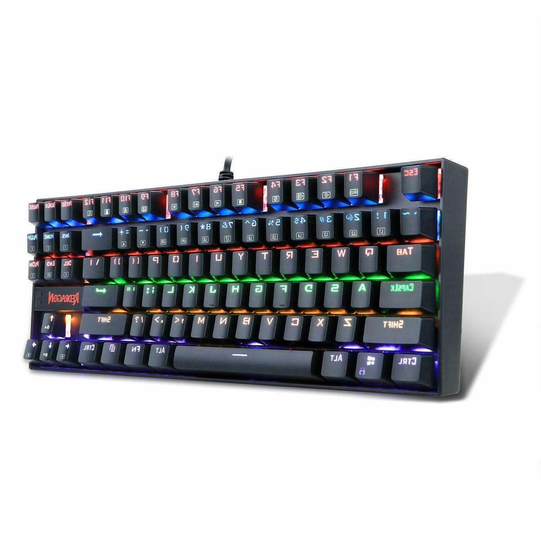 Red Dragon Keyboard Mechanical Gaming  87 Key Small Compact