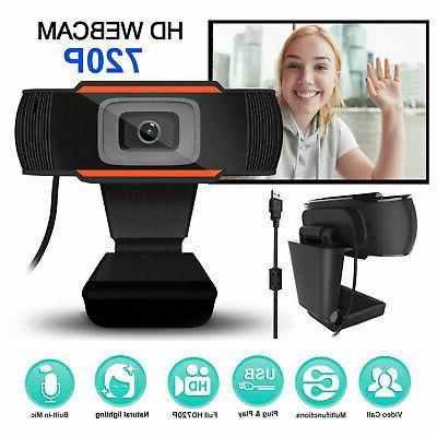 USB HD Webcam Rotatable Auto Focusing Video Recording Camera