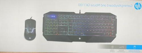 HP Gaming Keyboard And Mouse set English/Spanish LED backlight