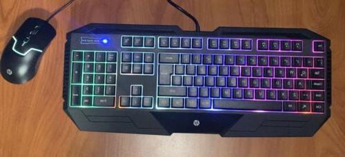 HP Gaming Keyboard And English/Spanish LED backlight