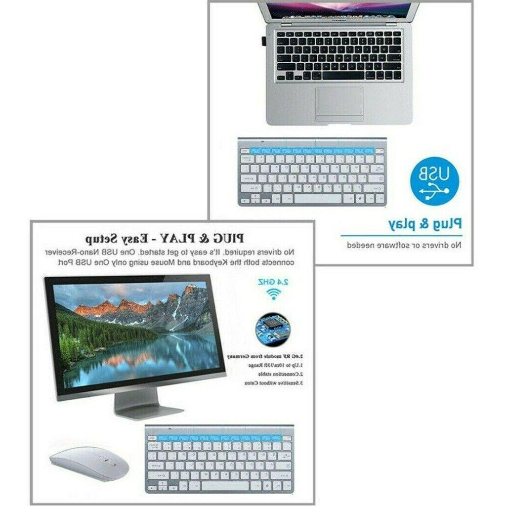 Wireless Keyboard and Comb Cordless USB PC Desktop