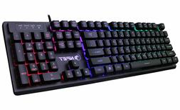 mechanical gaming keyboard with blue switch full